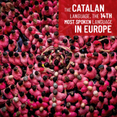 The Catalan language, the 14th most spoken language in Europe