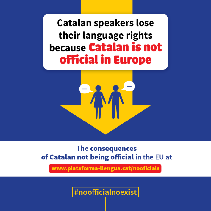 Plataforma per la Llengua will appear before the European Parliament to denounce structural linguistic discrimination by the Spanish State