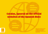 Portada - Catalan, ignored on the official websites of the Spanish State