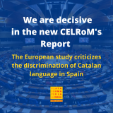 The Council of Europe uses the observations from Plataforma per la Llengua to denounce discrimination against Catalan in Spain